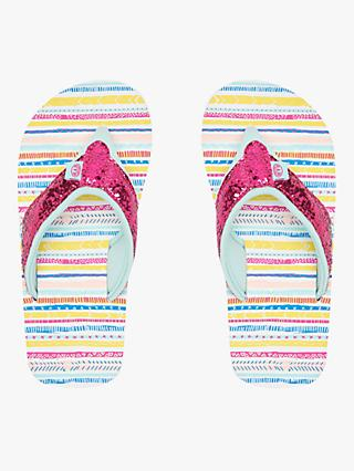 Animal Children's Swish Glitz Flip Flops, Multicolour