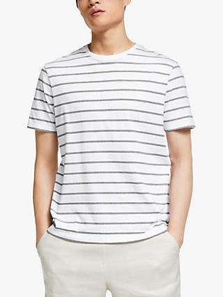 Kin Three Stripe Crew Neck T-Shirt, White