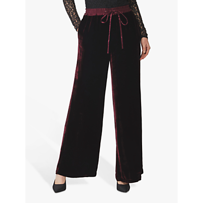 Ghost Lilly Silk Velvet Wide Leg Trousers