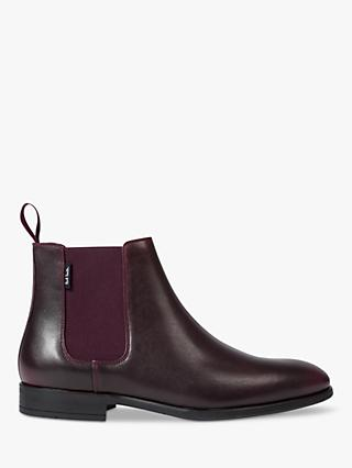 PS Paul Smith Gerald Leather Chelsea Boots, Burgundy