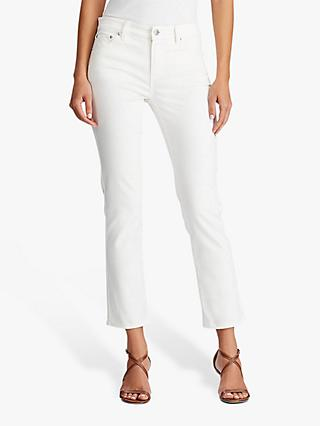 Lauren Ralph Lauren Premier Skinny Ankle Jeans, Perfect White Wash