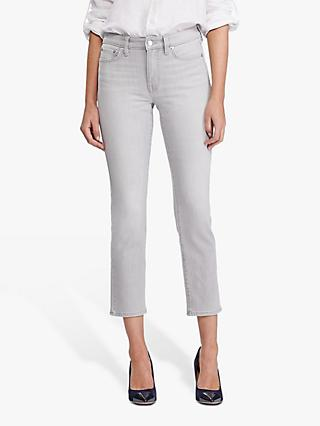 Lauren Ralph Lauren Premier Straight Ankle Jeans, Soft Grey Wash
