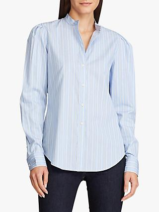 Lauren Ralph Lauren Lorini Stripe Shirt, Blue/White