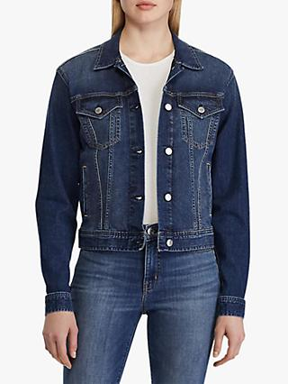 Lauren Ralph Lauren Paizley Denim Jacket, Cadet Blue Wash