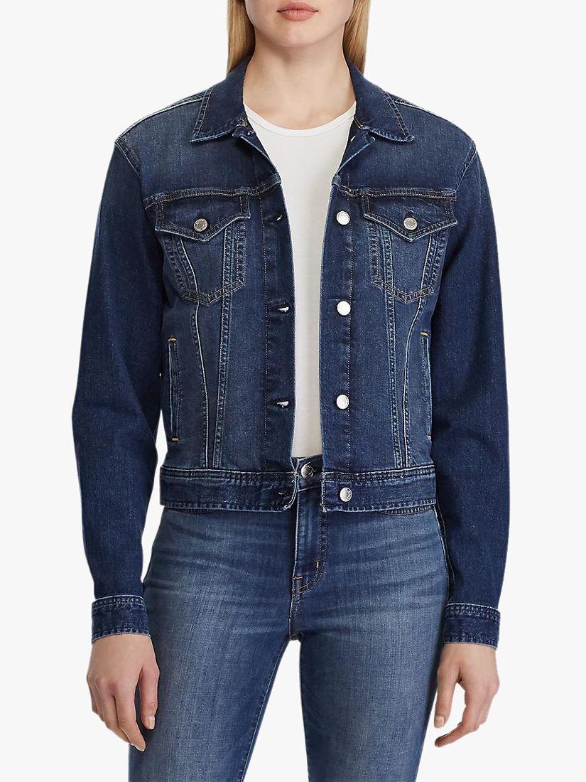Ralph Lauren Lauren Ralph Lauren Paizley Denim Jacket, Cadet Blue Wash
