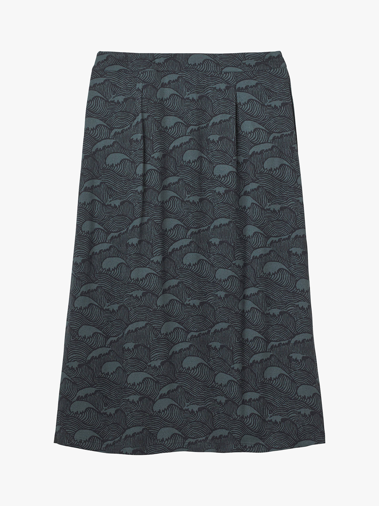 Buy White Stuff Under The Waves Midi Skirt, Navy, 6 Online at johnlewis.com