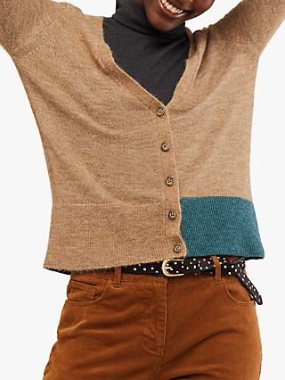 White Stuff Cuddle Cardigan, Camel Mix