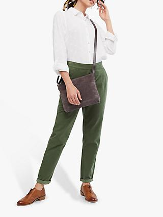 White Stuff Winter Maison Cotton Trousers, Olive