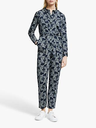 People Tree Ansia Fennel Jumpsuit, Blue