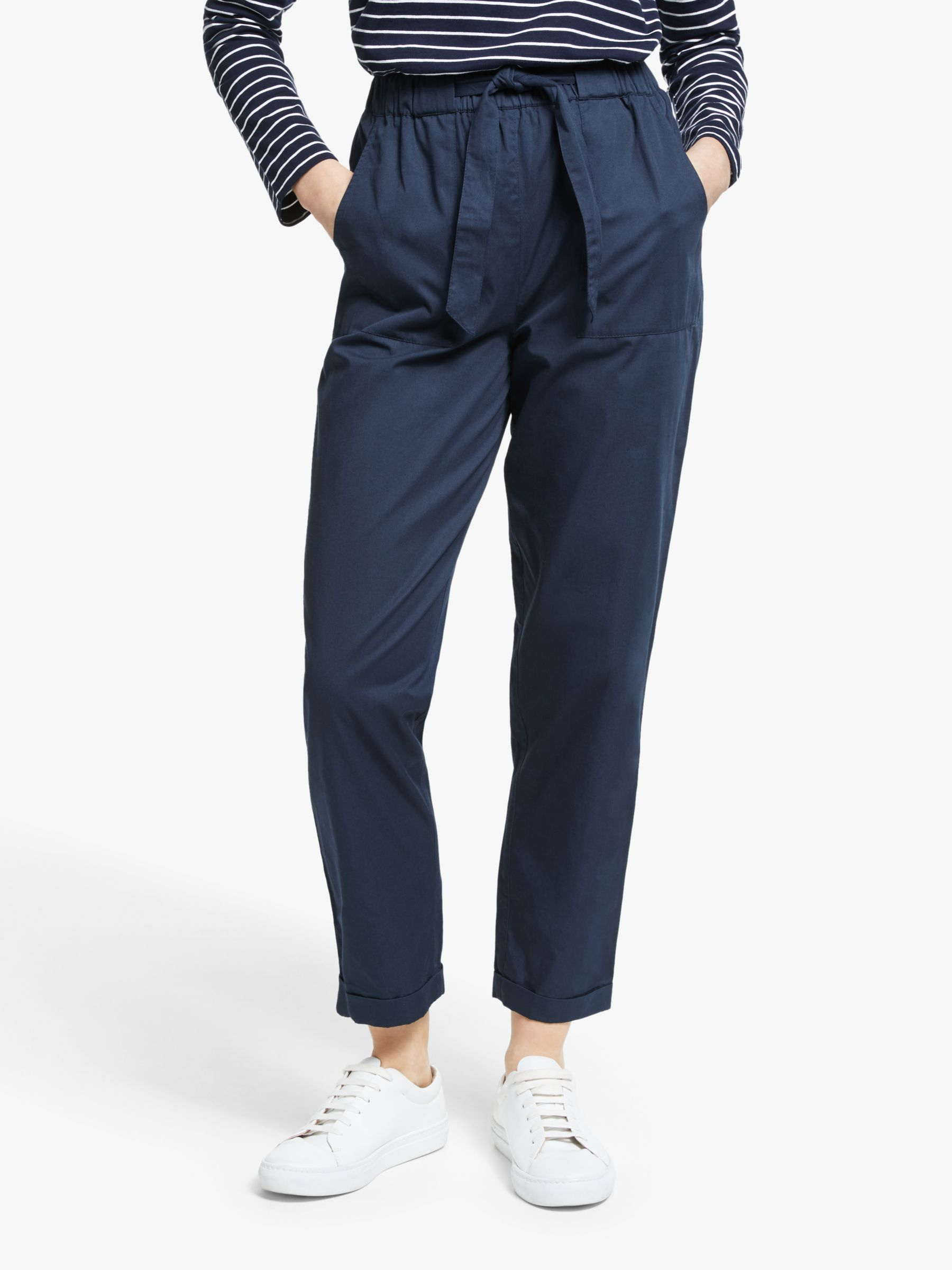 People Tree People Tree Tinsley Tapered Trousers, Blue