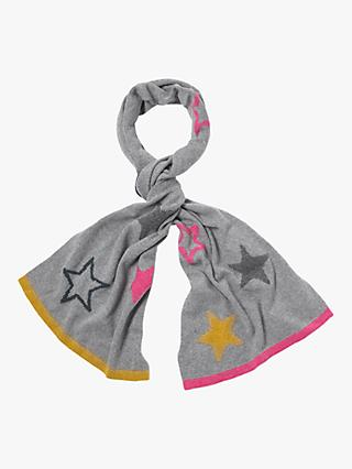 White Stuff Paper Stars Scarf, Grey