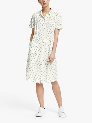 Collection WEEKEND by John Lewis Emilia Floral Shirt Dress, Ivory/Multi