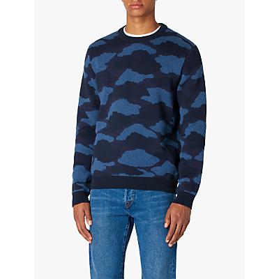 PS Paul Smith Camo Print Pullover Jumper, Navy