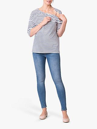 Séraphine Stripe Maternity and Nursing Top, Blue/White