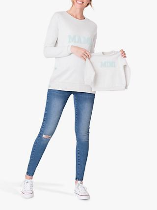 Séraphine Mama & Mini Sweatshirt Set, Grey Marl