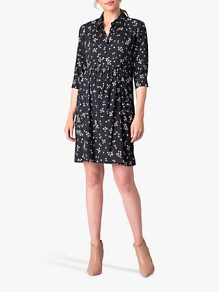 Séraphine Dropped Waist Floral Maternity and Nursing Shirt Dress, Daisy