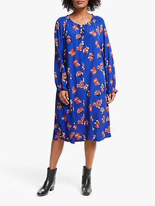 Masai Copenhagen Noga Floral Print Dress, Royal Blue