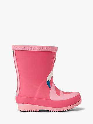 Little Joule Junior Wellington Boots, Pink Flamingo