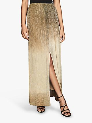 Reiss Emmeline Lurex Maxi Skirt, Gold