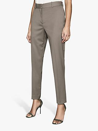 Reiss Leia Slim Fit Tailored Trousers, Green