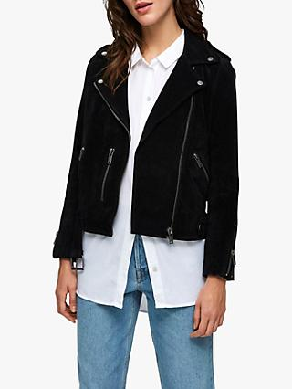 Selected Femme Sanella Suede Jacket, Black