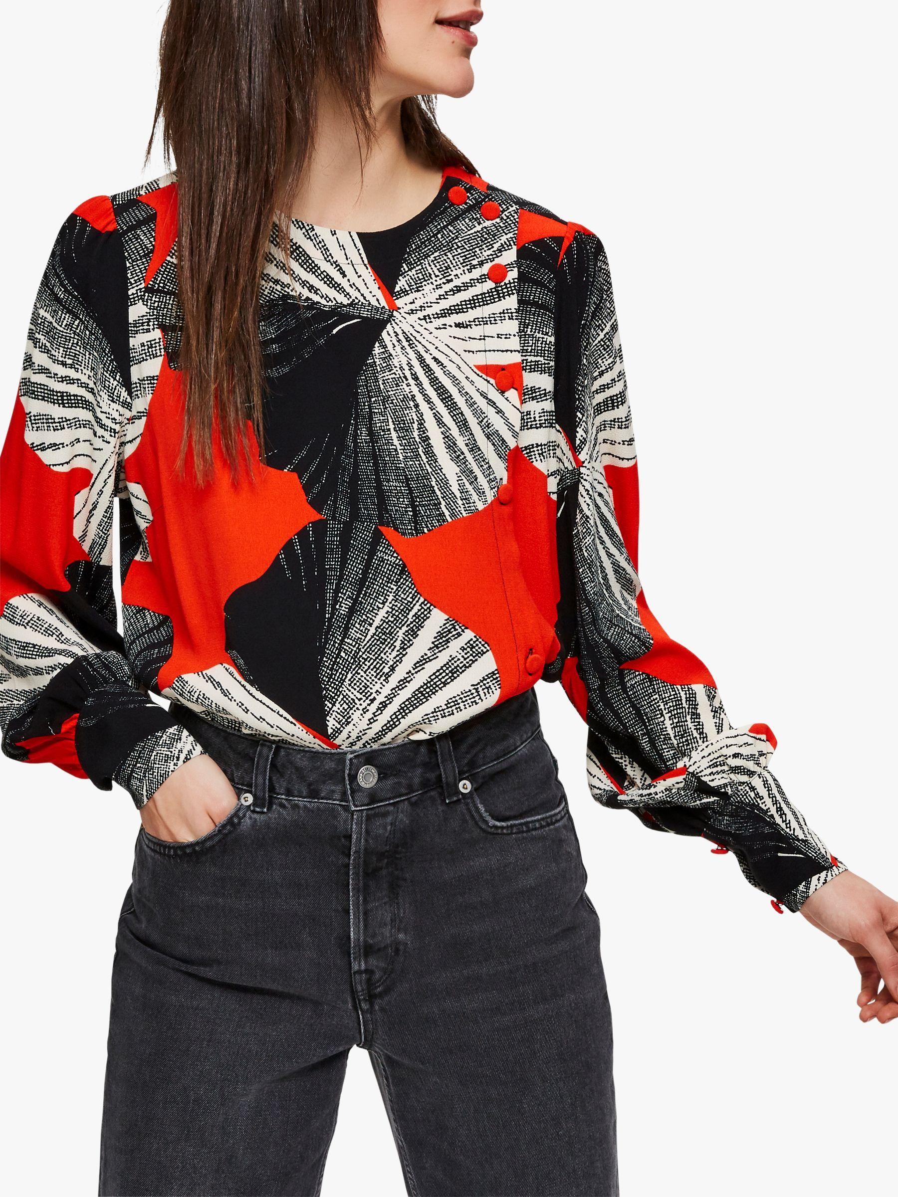 Selected Femme Selected Femme Kairi Top, Orange/Multi