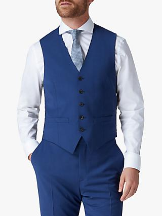 Jaeger Plain Motion Regular Fit Waistcoat, Blue