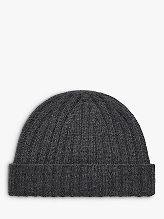 Brora Cashmere Ribbed Beanie Hat