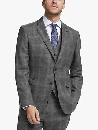 John Lewis & Partners Twisted Check Wool Regular Fit Suit Jacket, Grey