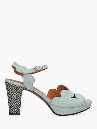 Chie Mihara Edana Scallop Detail Block Heel Leather Occasion Shoes