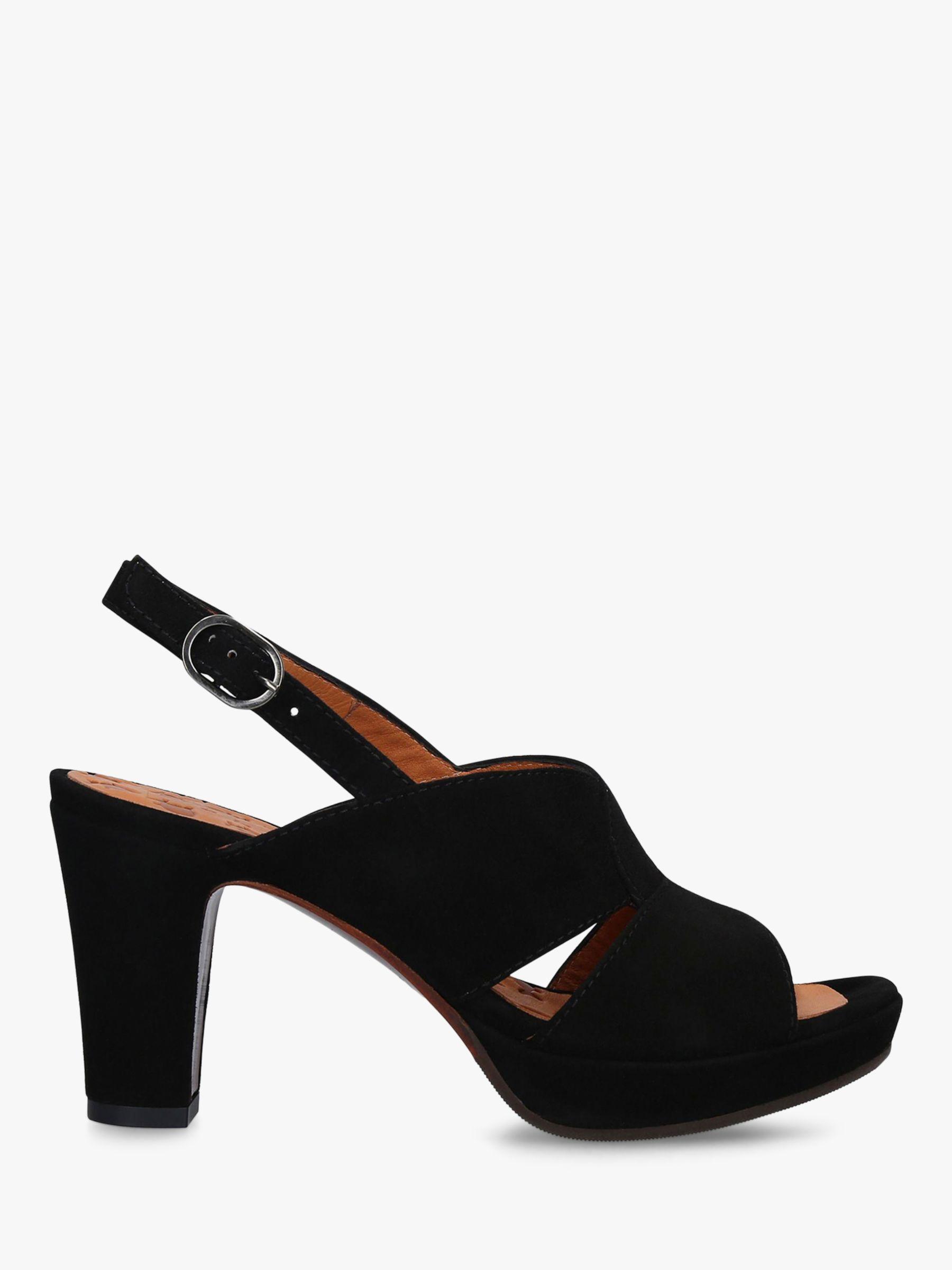 Chie Mihara Chie Mihara Eskol 36 Block Heel Platform Sandals, Black