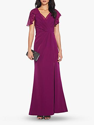 Adrianna Papell Chiffon Mermaid Gown, Wildberry
