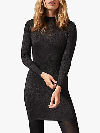 Phase Eight Tam Sparkle Dress, Gunmetal