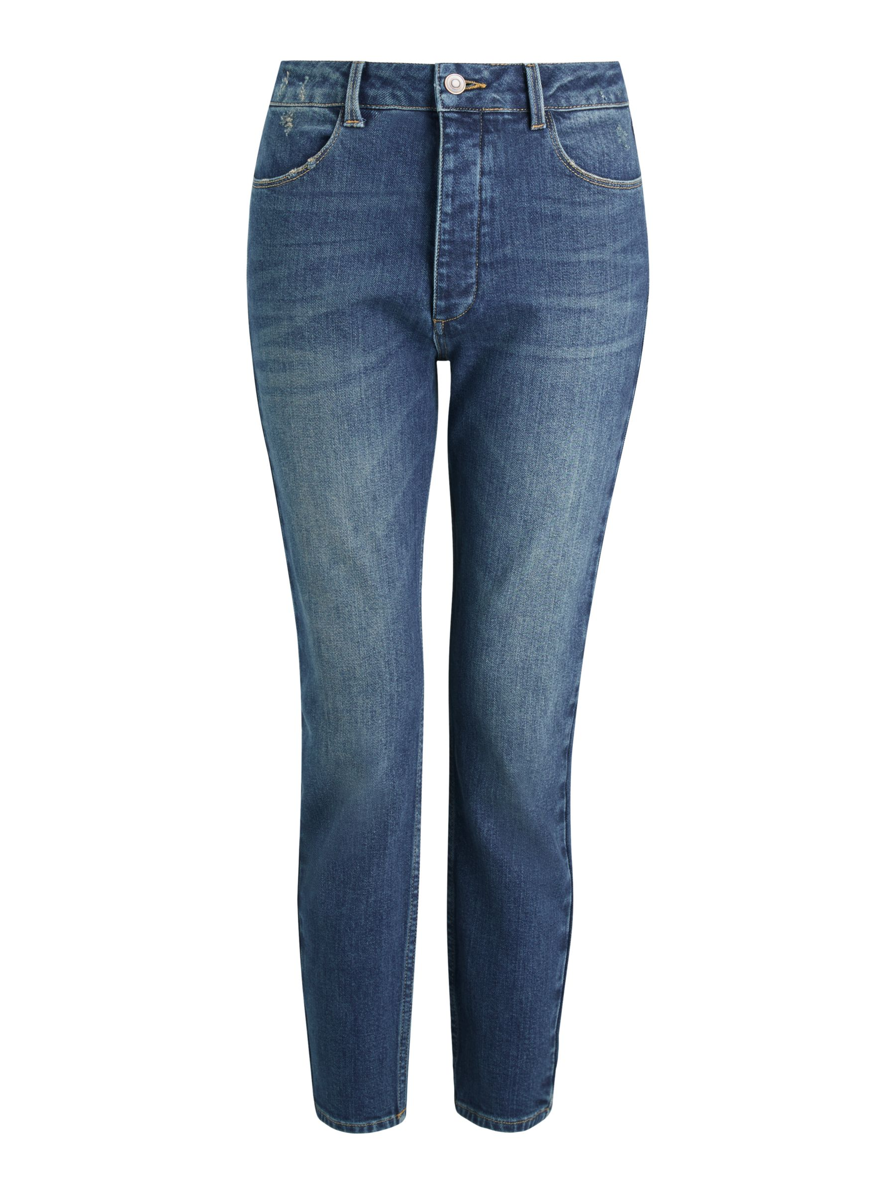 Buy AND/OR Catalina Vintage High Rise Jeans, Blue Amour, 26R Online at johnlewis.com