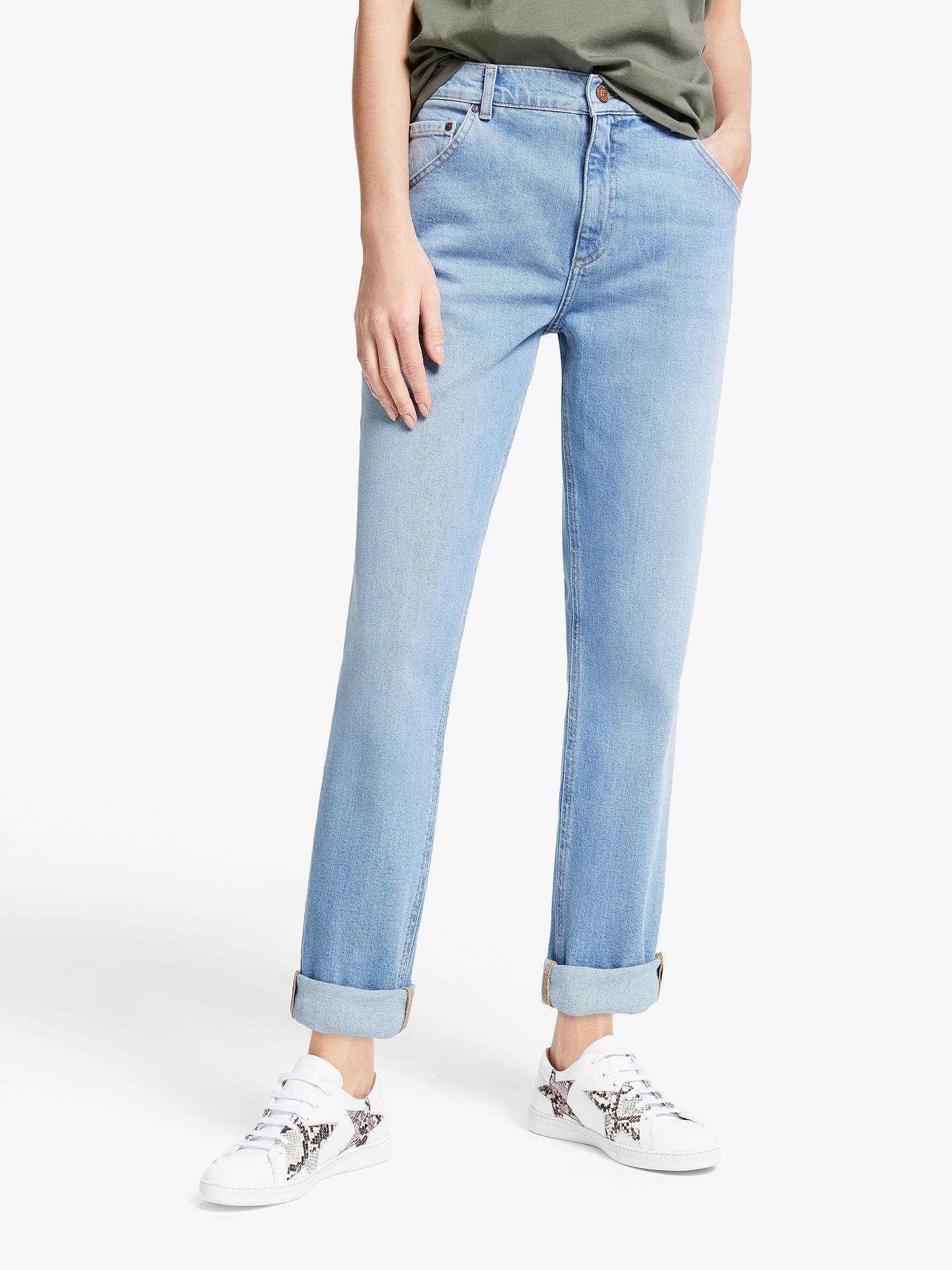 Buy AND/OR Venice Beach Boyfriend Jeans, Summer Sky, 24R Online at johnlewis.com