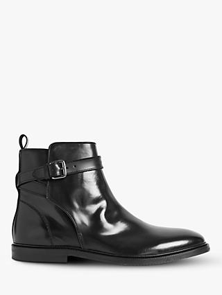Reiss Cambridge Leather Chelsea Boots, Black
