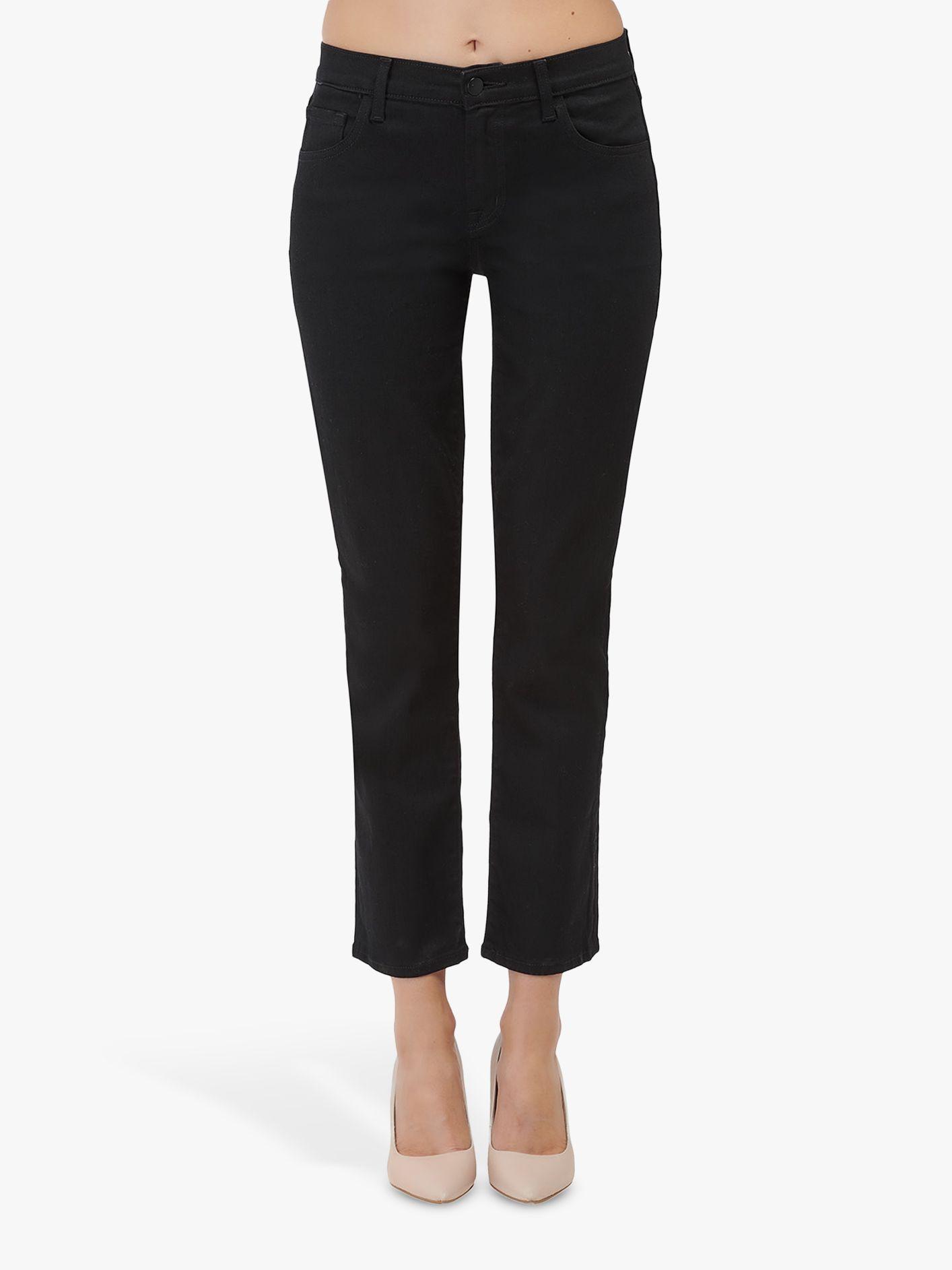 J Brand J Brand Adele Mid Rise Straight Leg Jeans, Vesper Noir