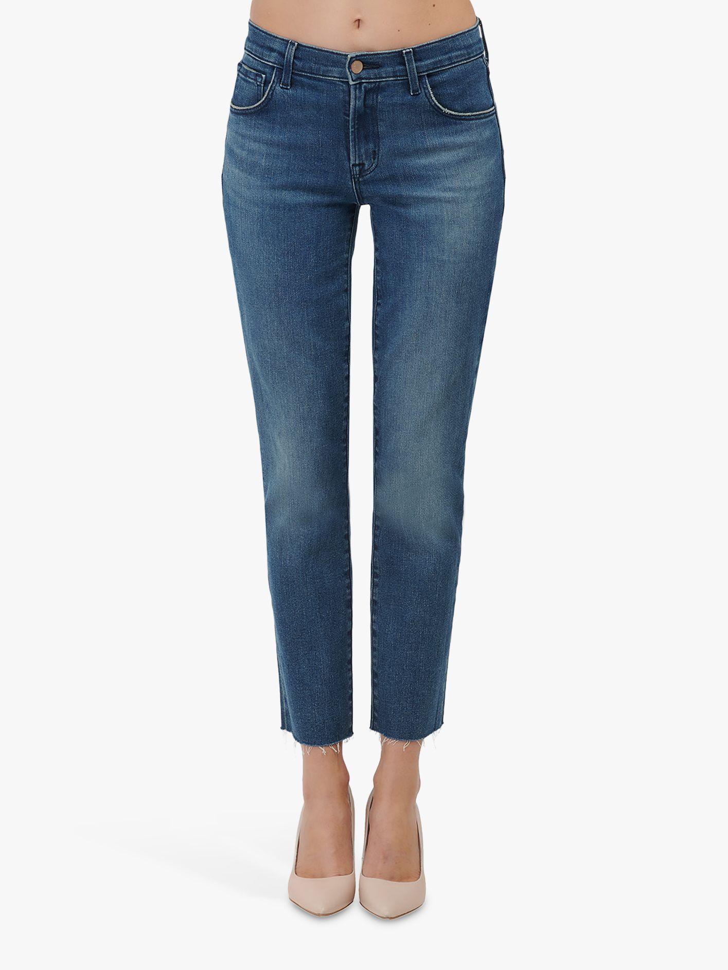 J Brand J Brand Adele Mid Rise Straight Leg Jeans, Sorority Raze