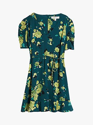 Oasis Curve Historical Floral Mini Dress, Multi