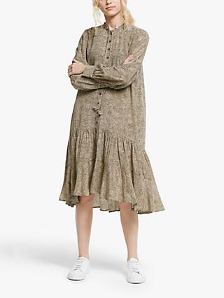 AND/OR Paloma Mini Animal Print Shirt Dress, Neutral