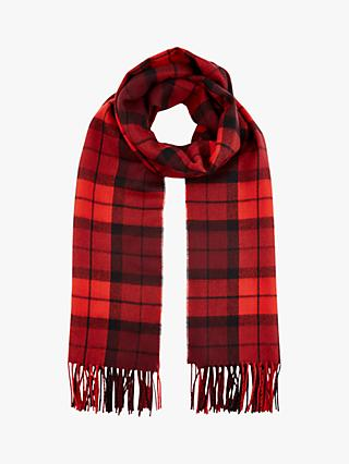 Hobbs Naomi Check Tassel Scarf, Red/Multi