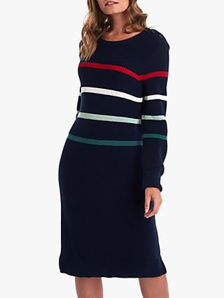 Barbour Shoreward Knit Dress, Navy
