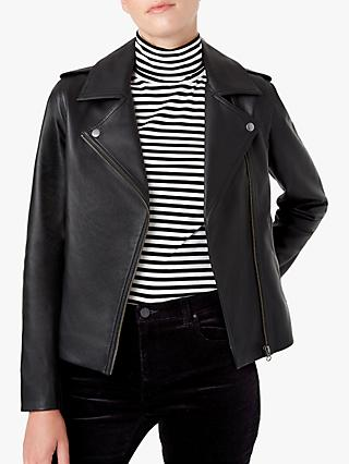 Hobbs Tamika Leather Jacket, Black