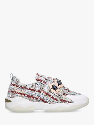 Kurt Geiger London Lara Tweed Embellished Trainers