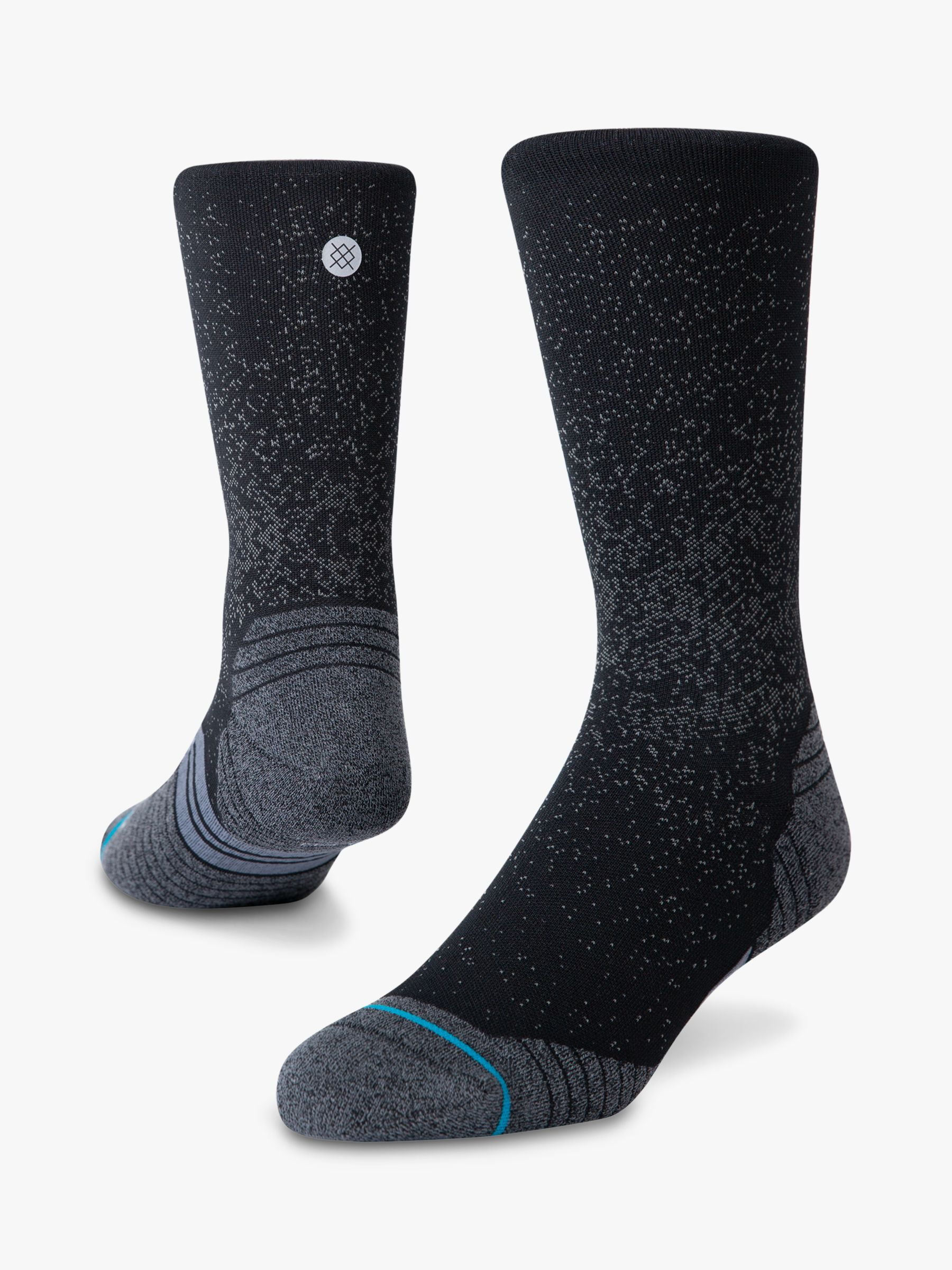 Stance Stance Run Crew Running Socks, Black