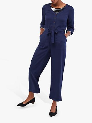 White Stuff Skyline Tie Waist Jumpsuit, Navy