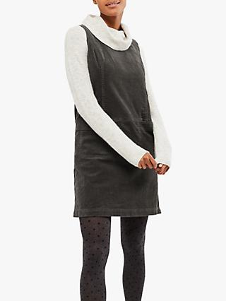 White Stuff Darcy Cord Pinafore Dress, Grey