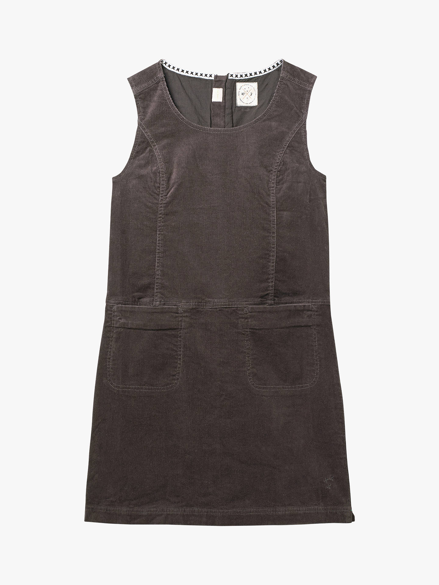 Buy White Stuff Darcy Cord Pinafore Dress, Grey, 16 Online at johnlewis.com