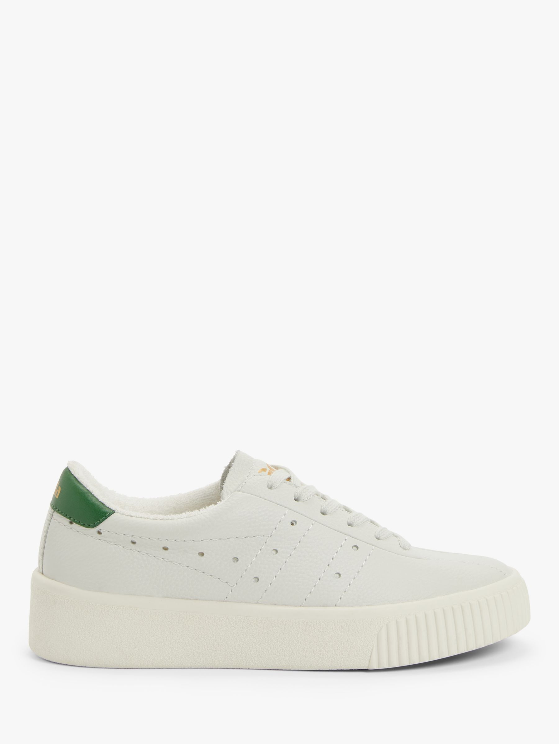 Gola Gola Super Court Leather Trainers, Off White/Green
