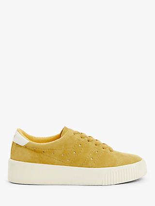 Gola Super Court Suede Trainers, Sun/Off White